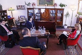 Azeri házelnök asszony látogatása